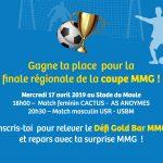 Gagne ta place pour la finale de la coupe MMG
